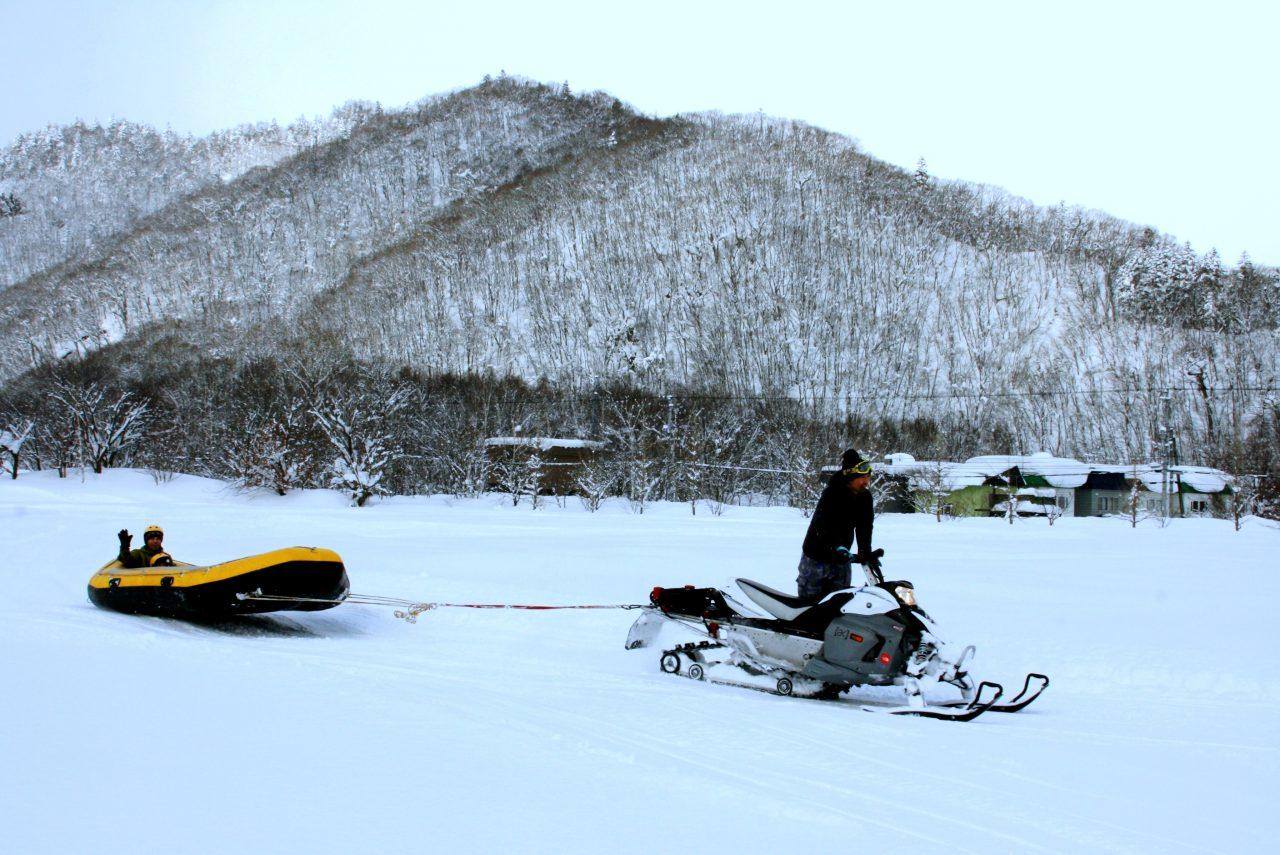 定山溪 雪三舞