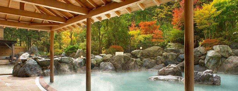 北海道登別溫泉~Mahoroba飯店,透過日本最大規模露天浴池及31種浴池,徹底享受登別溫泉!